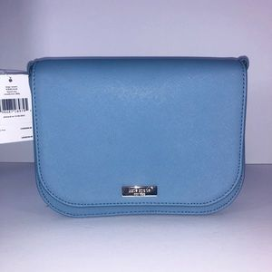 Kate Spade light blue Carsen Crossbody NEW leather